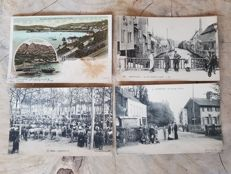 Frankrijk  / France; 80 postcards very animated including 12x Litho Lourdes . 1895- ca 1930