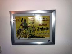 Signed Boba Fett Carbonite Is Forever Poster In Deluxe Frame + COA