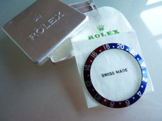 Original Rolex GMT– Master Pepsi  Inlay Reference 1675,16750 unused from old shop storage