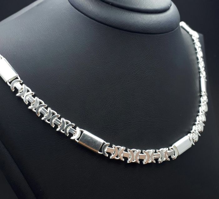 925 Sterling Silver Necklace , Length 65 cm, Total weight 53 g