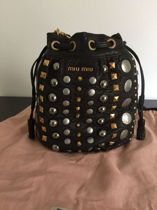 Miu Miu - Studded Leather Pouch Shoulder Bag - *No Minimum Price*