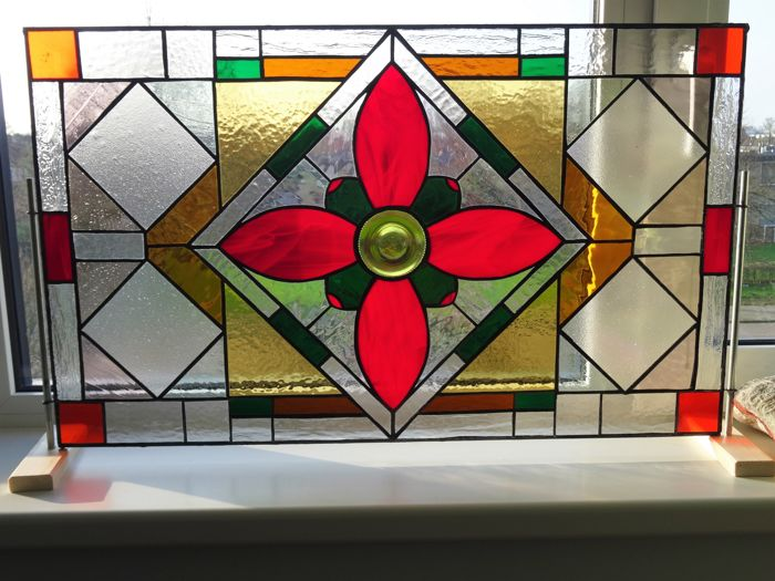glass window decorations christmas stained glass window with decorations of flower chalice within diamond shape beautiful colours