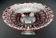 Ruby red crystal centrepiece