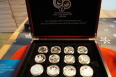 World - commemorative coins Football World Championship Germany 2006 (16 pieces) - silver