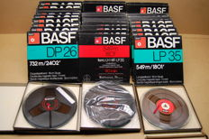 Set of 30 x BASF tapes with tape