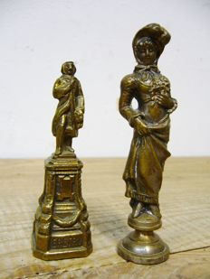 Two small bronze figurines - France - 2nd half of 19th century