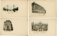 France - 73 pastel-coloured Paris postcards - Late 1800s/early 1900s