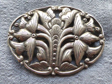 Large antique floral brooch - Djoka handmade in Art Deco style