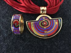 Michaela Frey Wille - SET OF RING + NECKLACE - Spiral of Life - Hundertwasser