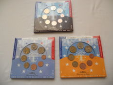 France - Year packs Euro coins 2005, 2006 and 2008