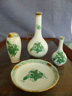Porcelain set - Herend Hungary - Bouquet China Green