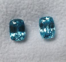 Zircons Matching Pair – 3.75 ct Total