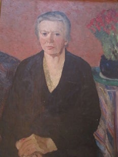 Unknown artist (Erich Wünsche, born 1893 in Sebnitz, attributed) - Damenportrait