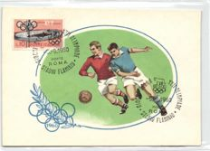 OLYMPIADE ROME 1960 - 36 x - Complete set - various sports - Beautiful stamps from San Marino on front - around 1960