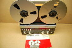 Vintage Revox A77 - 4-track tape recorder with tapes and adapters