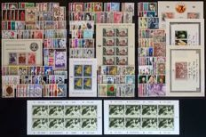 Belgium 1959/1964 - 6 full years including blocks and Red Cross sheetlets with varieties - OBP 1090/1312