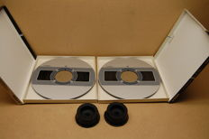 2 x TDK 26 cm metal with tapes and 2 x adapters from Teac
