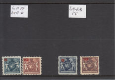 Liechtenstein 1924/1927 - Overprint stamps, Coat of arms, Landscape, Castles and governments buildings series, Birthday Johann II 1925 and 1927