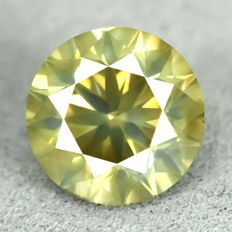 Diamond - 1.54 ct, VS2 - Natural Fancy Intense Greenish Yellow