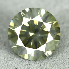 Diamond – 0.55 ct, Intense Yellowish Green – NO RESERVE PRICE