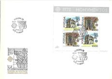 Portugal 1977/1982 - FDC envelopes with blocks (21 pieces)