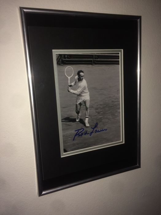 Rod Laver Hand Signed and Framed Photo Display - with Certificate of Authenticity!