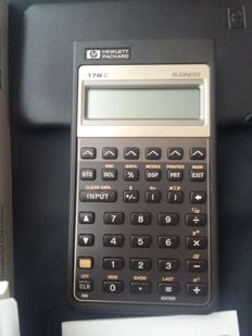 HP17 BII Financial Calculator - with box. instructions and custody