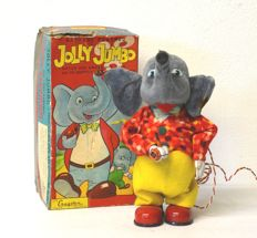 Cragstan, Japan - size cm 22 - Jolly Jumbo, elephant that walks - tin toy - automaton - 1950s