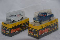 Dinky Toys - 1/43 - Bedford CF Van no. 410 and Land-Rover no. 344.
