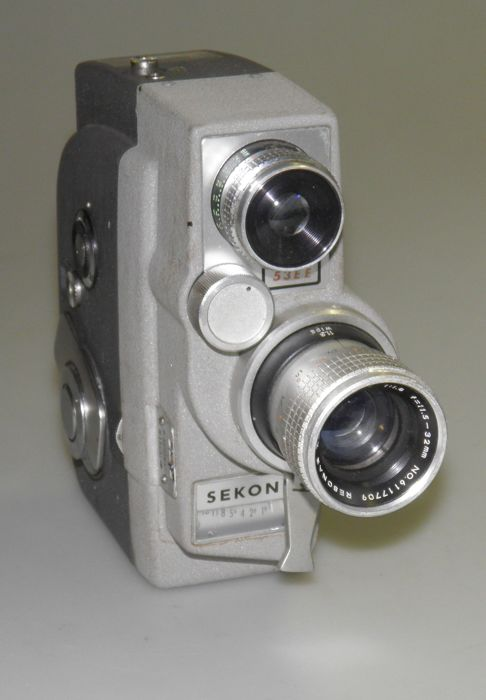 Sekonic 53 EE Mikro-Eye 8 mm film camera 1966 - Jelco Eddie 8mm film editor