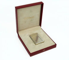 S.T.  Dupont - Silver plated lighter - In box and with papers -Excellent condition