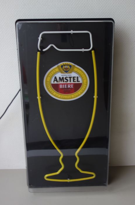 Neon advertising in closet - Amstel beer/Bière - ca 1995