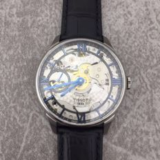 Tissot - Black Leather Band Automatic Skeleton Dial Analog - T099.405.16.418.00 - 男士 - 2011至今