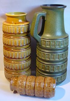 Lot with three Scheurich West Germany vases