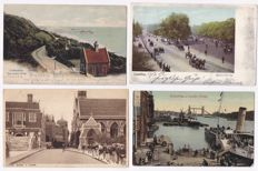 England - 190x - With many circulated cards from the period 1900-1920 - Scans of all the cards