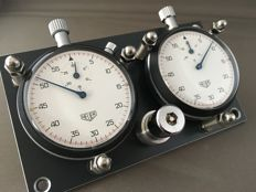 Heuer - Rally race timers - dash mounted stopwatches  - Ref. 403.201 - 402.201 flyback  - Heren - 1970-1979