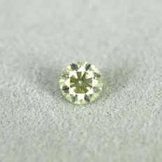 Natural Fancy greenish Yellow Diamond - 0.20 ct, VS1