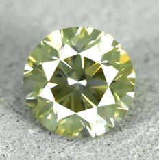 Diamond - 0.50 ct, Vivid Greenish Yellow