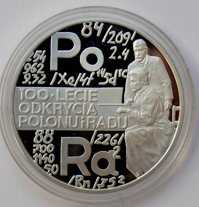 Poland - 20 Zlotych 1998 'Marie Curie - Discovery of polonium and radium' - silver