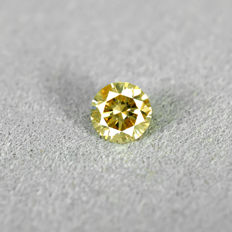 Natural Fancy Orangey Yellow Diamond - 0.33 ct