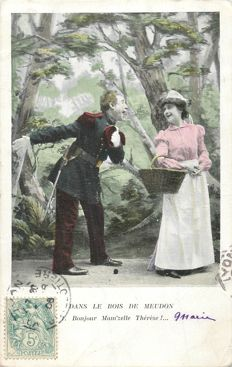 "Novelty postcards - Lot of 100 old postcards - ""Les amours"""