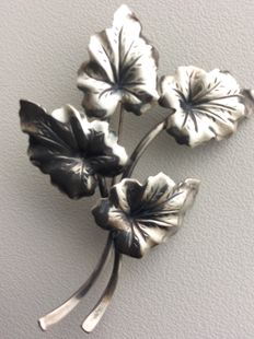 Niels Erik from N.E. From, silver Danish brooch