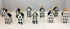 10 KLM Delfts Blauw Business Class houses - Bols - low numbers