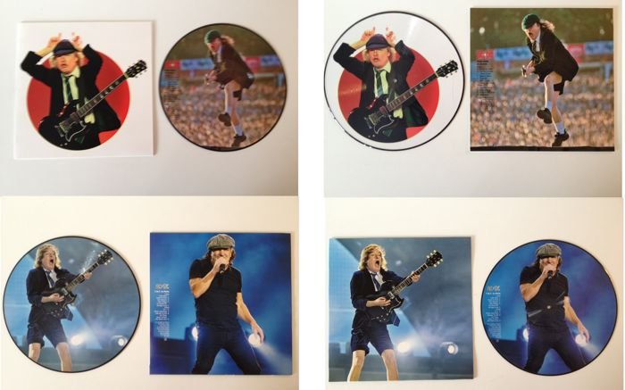 "AC/DC Lot Of Two Picture Discs  -  ""TNT In Paris""  &  ""Hells Bells In Zurich"""