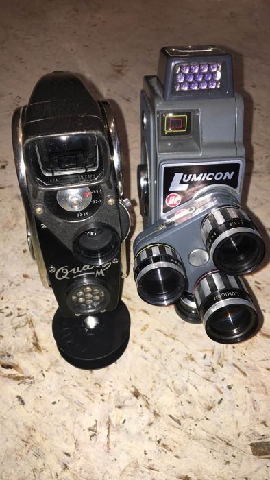 Zenit Quarz M / Lumicon 2E super 8 camera's zestiger jaren