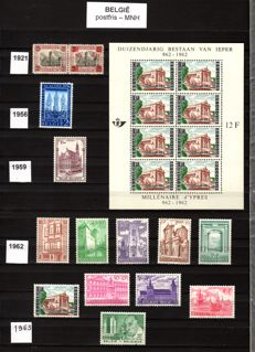 Topical 1937/1989 - collection of stamps from Belgium, France, Luxembourg in albums.