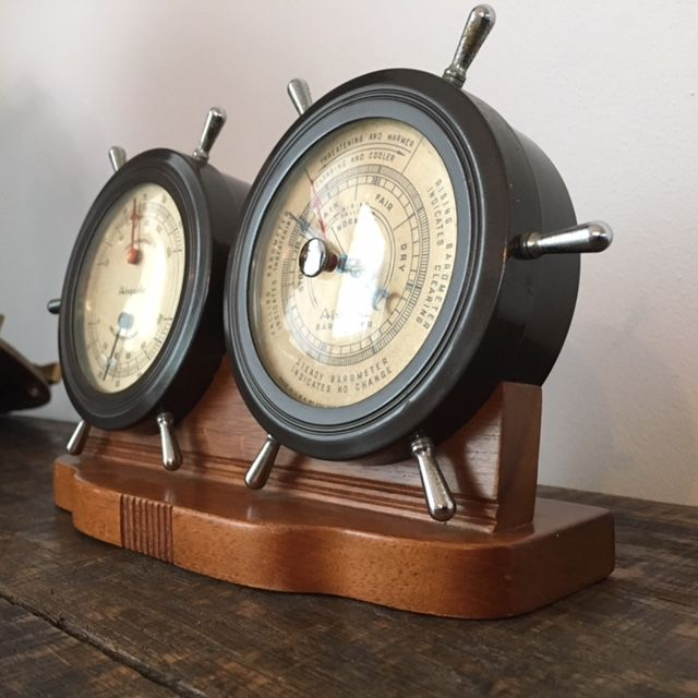 airguide a desk barometer set with temperature and humidity set in rh auction catawiki com Barometer Airguide Instrument Company Chicago Art Deco Airguide Temperature Humidity