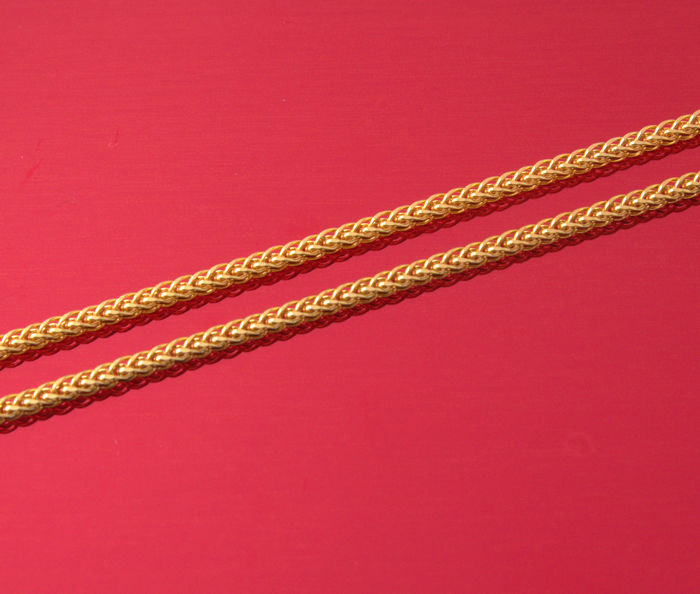 18k/750 Yellow Gold Necklace Palm-Square - 50 cm - 2.37 gr