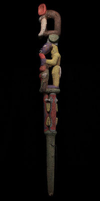 Glass beaded chief staff - BAMILEKE - Cameroon