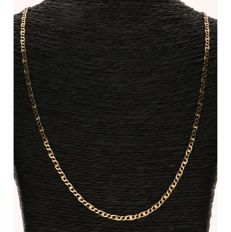 14 kt Yellow gold curb link necklace - Length: 52 cm - No Reserve